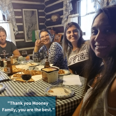 Au Pair Carmen got to meet her Host Family's extended family on vacation