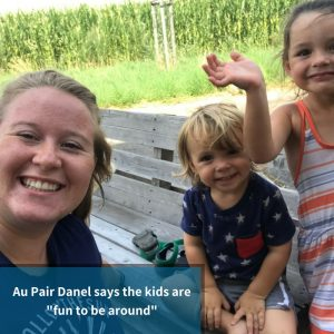 Au Pair Danel loves spending time with her Host Kids