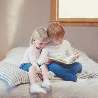 Reading together opens a child's imagination and can be a good way to help you bond