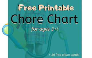 free printable toddler chore chart with easy chores for toddlers
