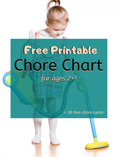 free printable chore chart for ages 2+ (plus 36 free chore cards!)