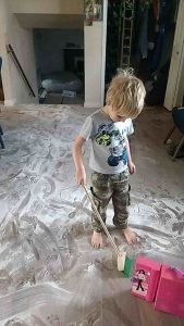 "Of all the crazy Au Pair stories... My eldest said he wanted ""a fog in the house"" and that's why he dumped baby powder everywhere."