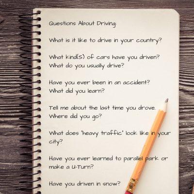 Au Pair interview questions. Can Au Pairs drive?