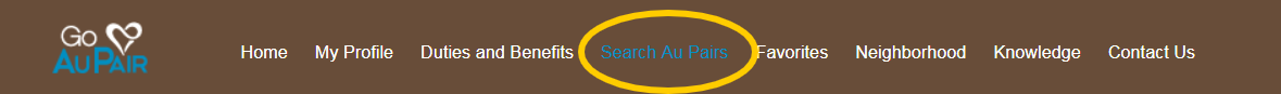 Use Go Au Pair's advanced search filters to find an Au Pair who's a good fit for your family