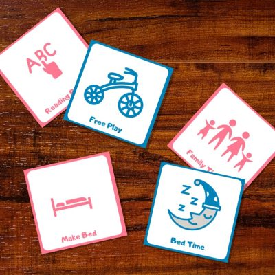 Free Printable Daily Routine Cards for 4-year-olds