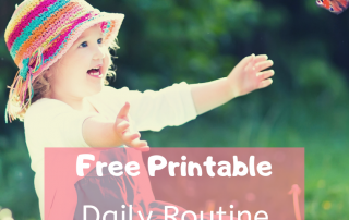Free Printable Daily Routine for 4-year-olds