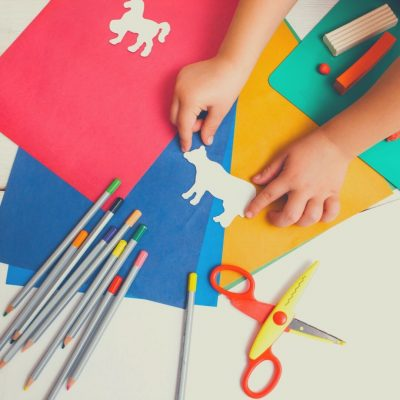 Kids love doing crafts when the weather is bad