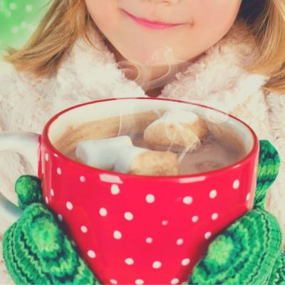 If the kids get cold in the rain, let them come in to a warm fire and a cup of cocoa