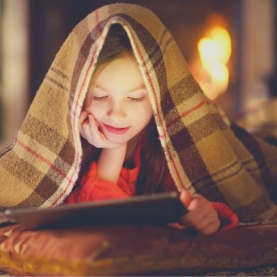 a blanket fort is a fun indoor activity for kids