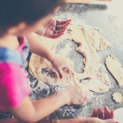 Try baking together when you can't play outdoors